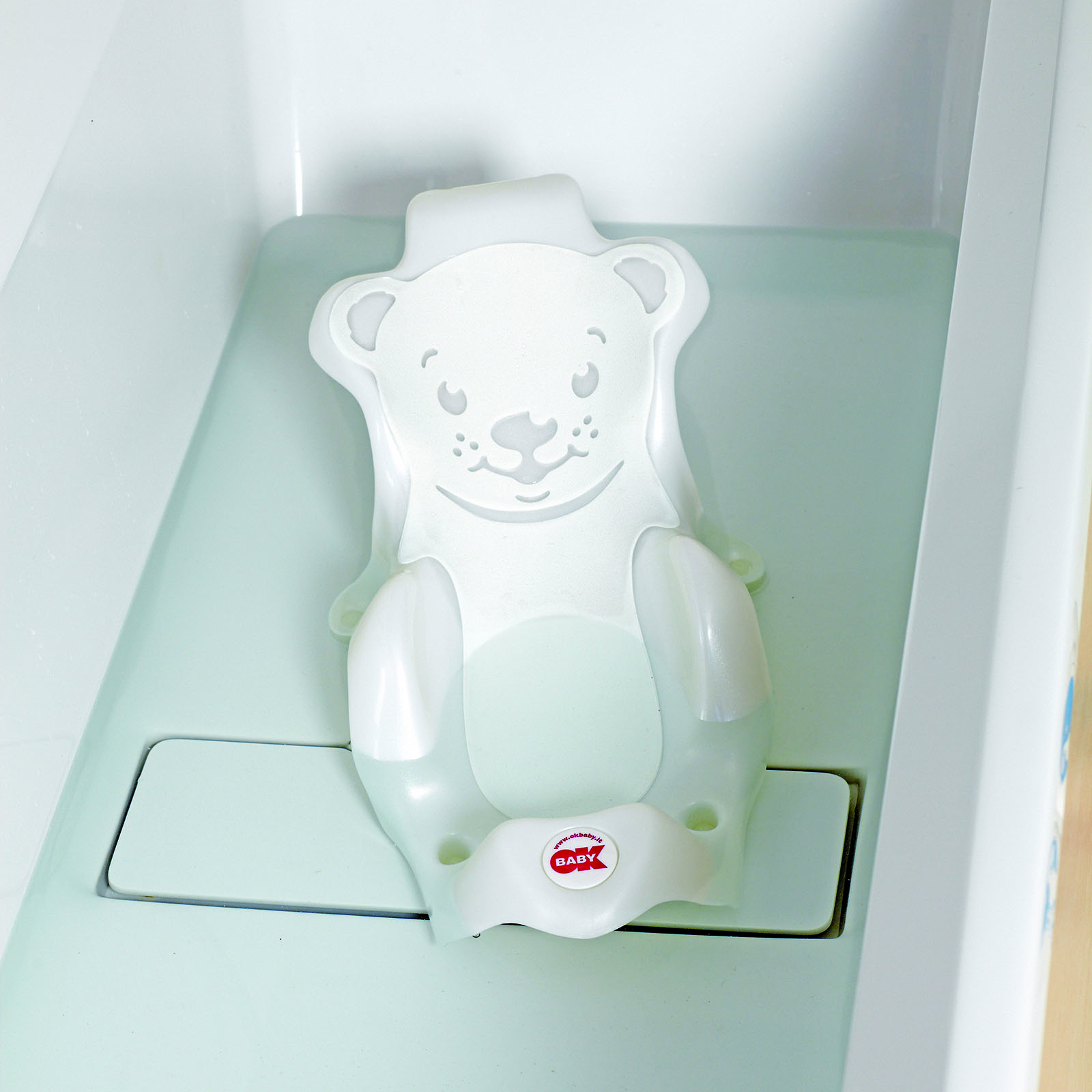 NEW OK BABY BUDDY BATH SEAT WHITE FOR USE IN LAGUNA TUB OR ADULT ...