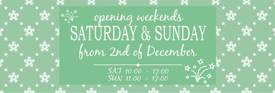 New Weekend Opening Hours