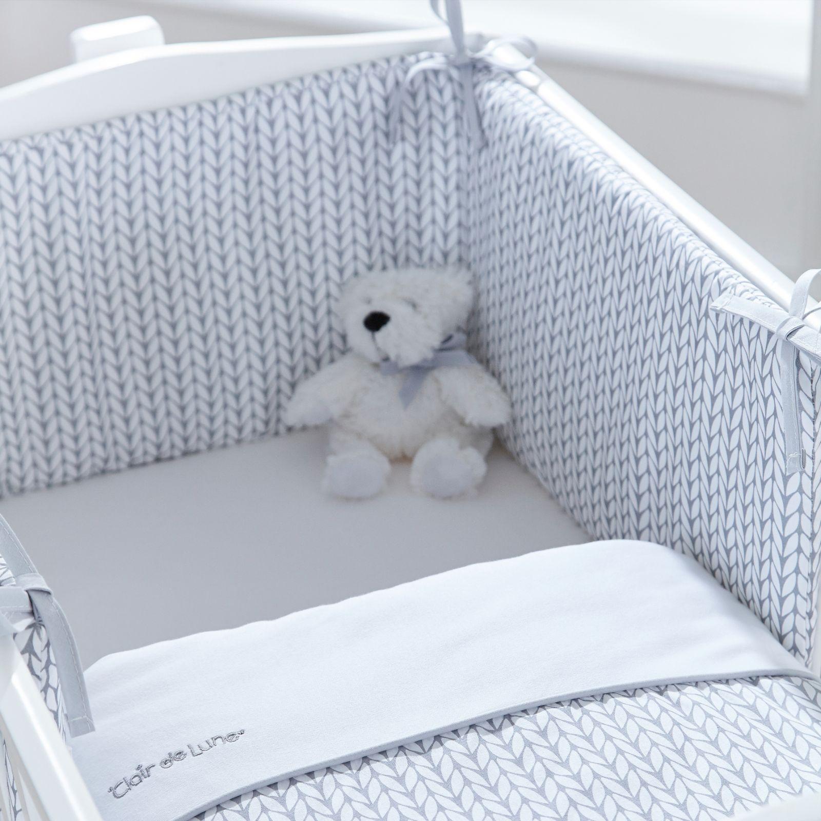 442db1a9ded77 Clair De Lune Rocking Crib Quilt   Bumper Set - Barley Bebe Grey ...