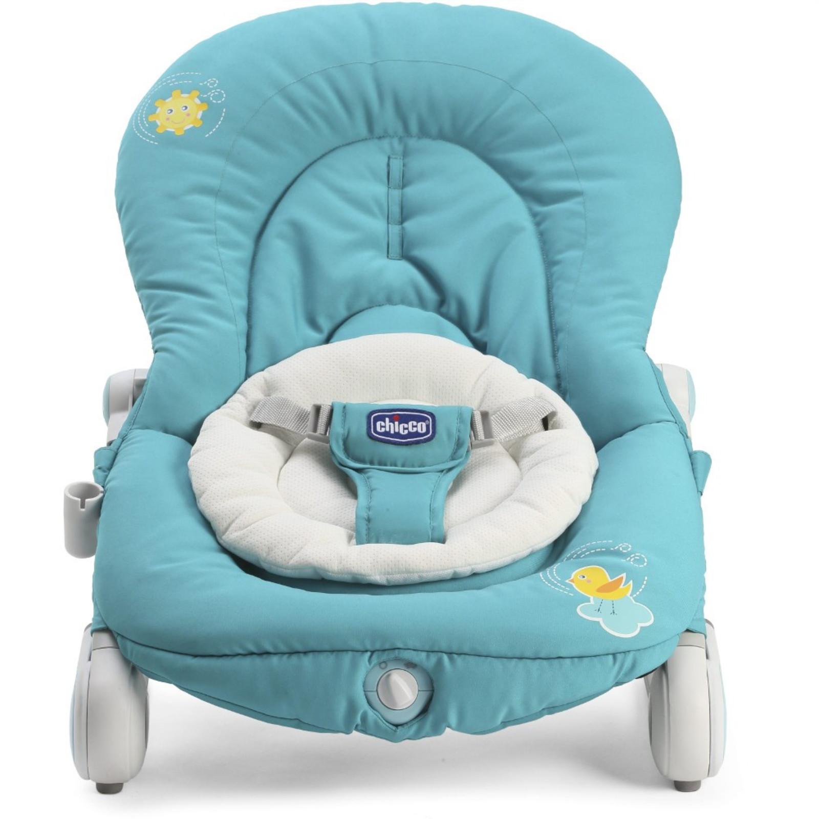 New Chicco Balloon Bouncer Turquoise Adjustable Baby