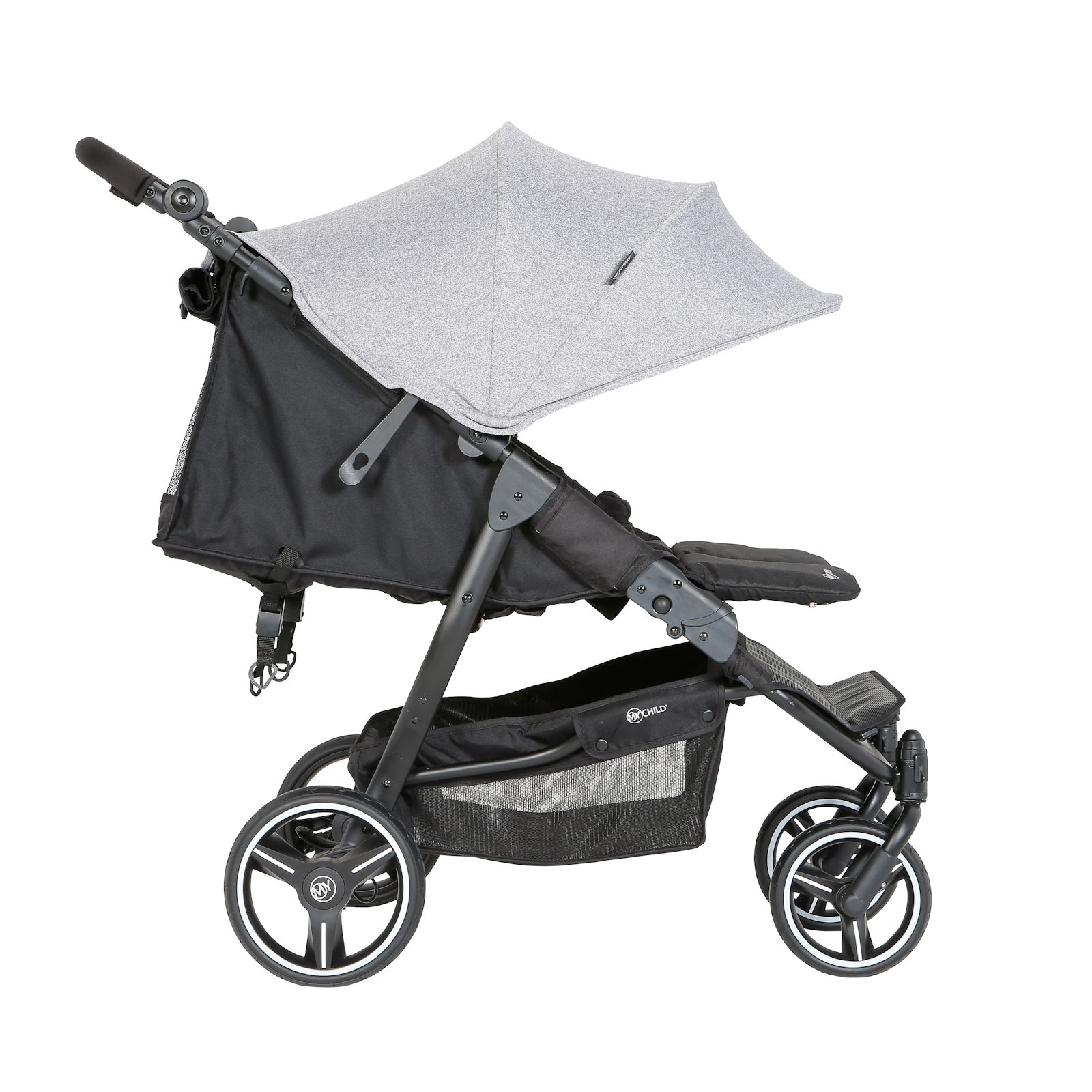 My Child Easy Twin Double Stroller Grey Buy At Online4baby
