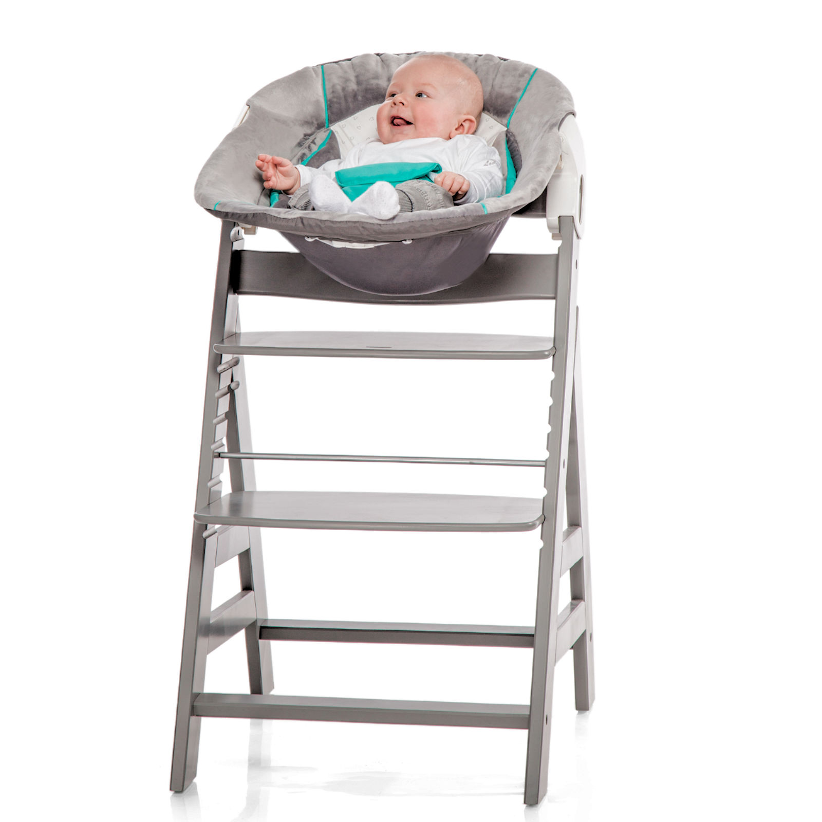 Hauck Alpha 2 In 1 Baby Bouncer Chair Hearts Grey