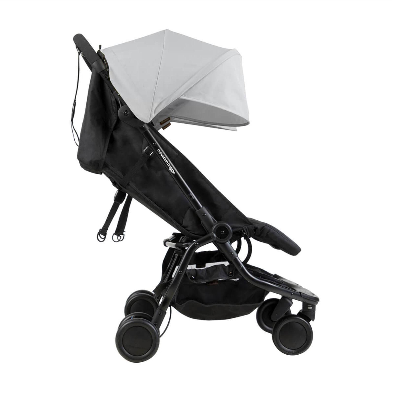 Mountain Buggy Nano Duo Twin Pushchair Stroller Silver