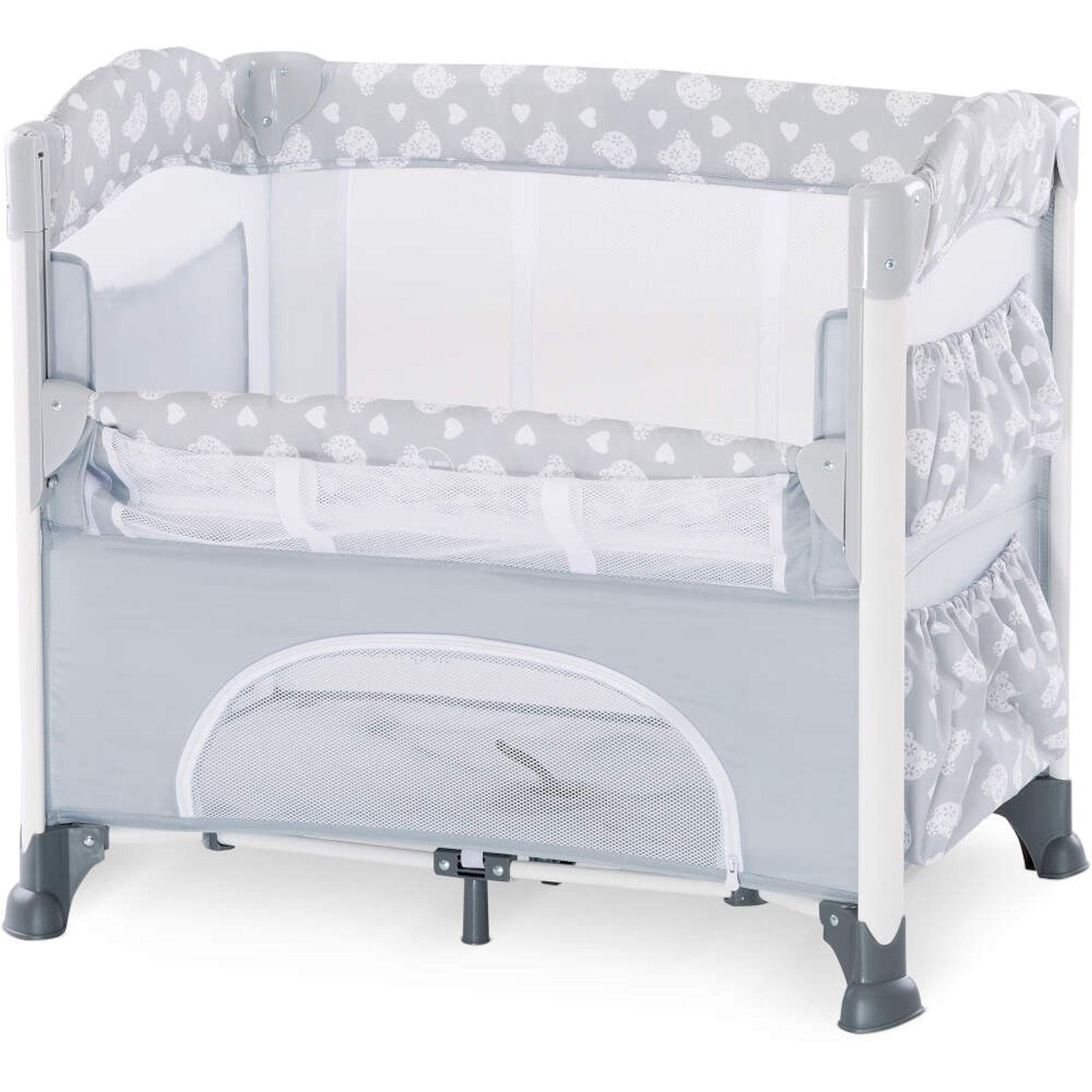 Hauck Sleep N Care Plus Travel Cot Bedside Crib Teddy