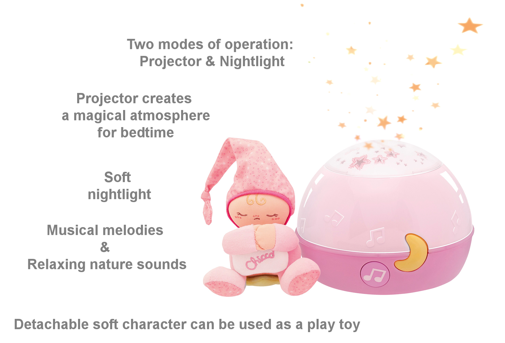 Chicco Goodnight Stars Projector Pink Buy At Online4baby