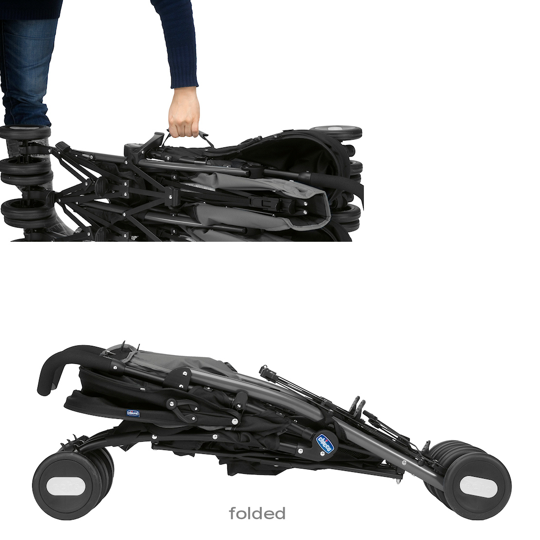 New Chicco Coal Echo Twin Stroller From Birth Lightweight Double Baby Pushchair Ebay
