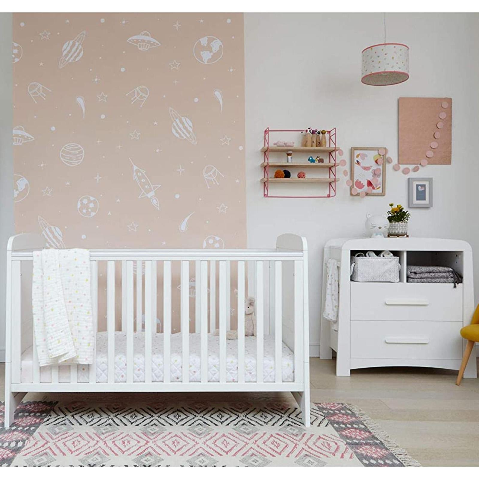 Mothercare Little Acorns Somerton Cot Bed 2 Piece Nursery