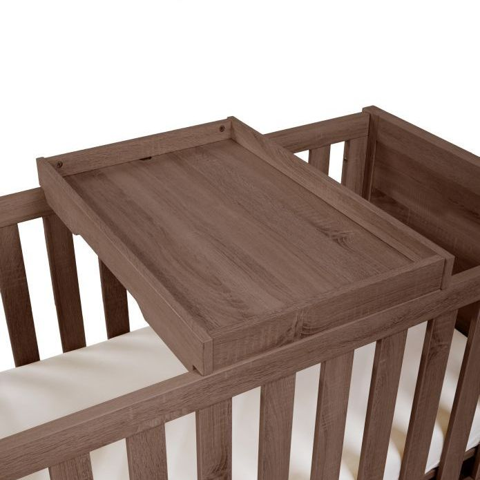tutti bambini milan cot top changer walnut buy at. Black Bedroom Furniture Sets. Home Design Ideas