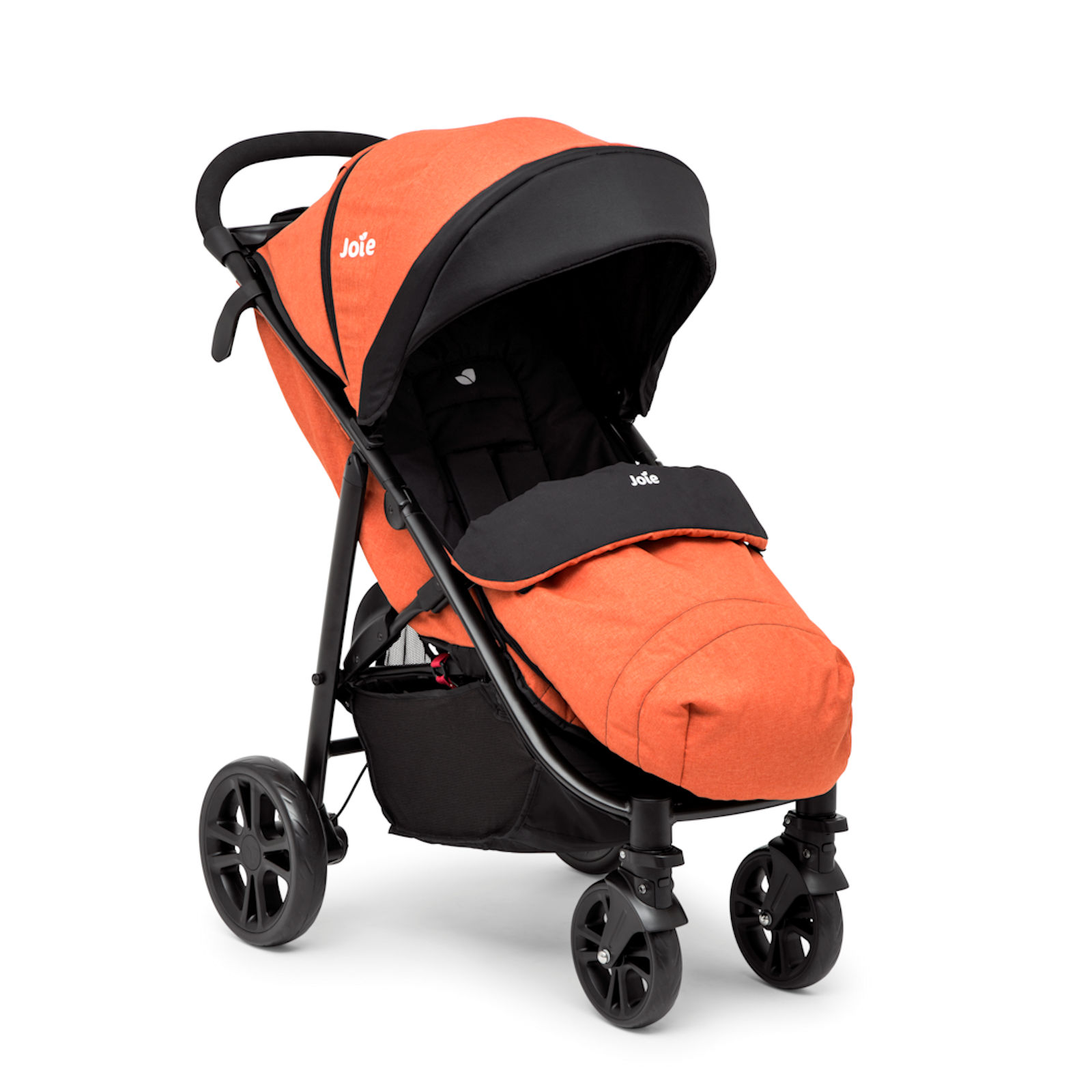 joie litetrax 4 wheel pushchair stroller with footmuff and raincover rust ebay. Black Bedroom Furniture Sets. Home Design Ideas