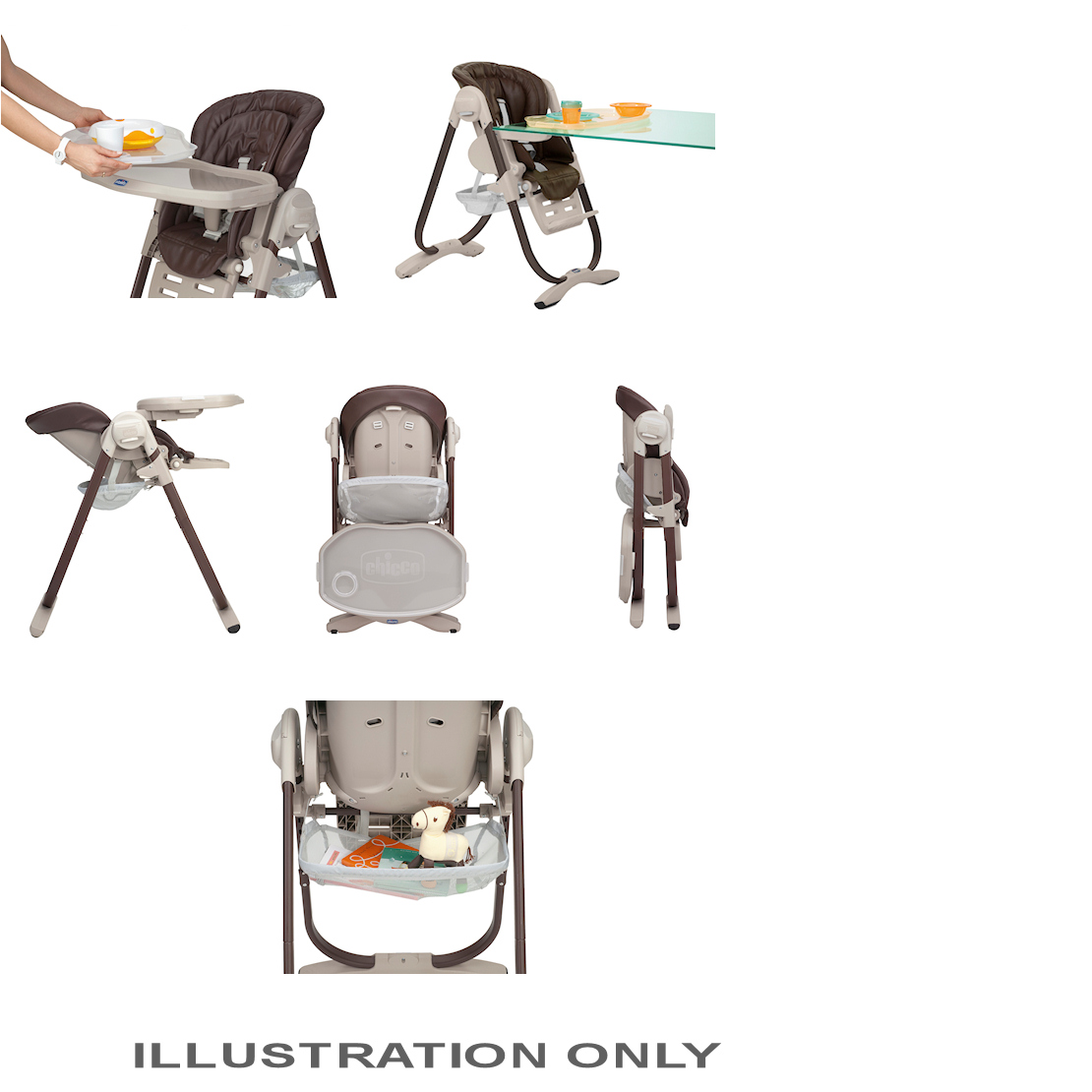 Chicco Polly Magic Highchair Cocoa Buy At Online4baby