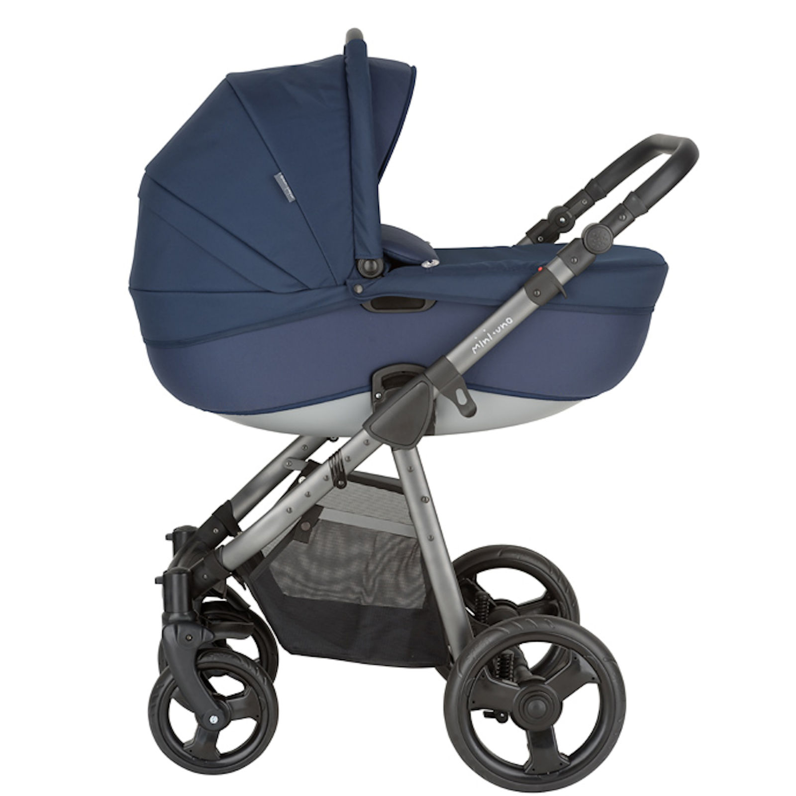 Mini Uno Stride Travel System Navy Blue Buy At Online4baby