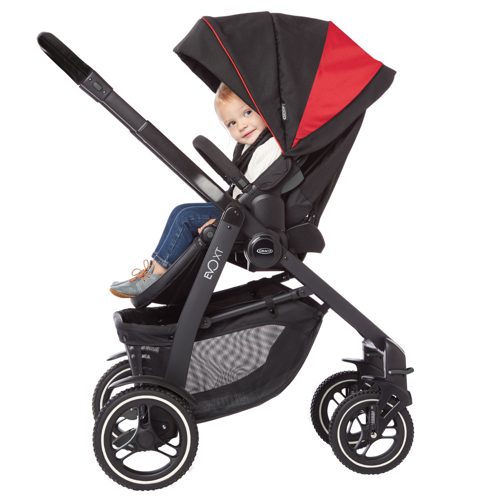 Graco Evo Xt Snugride Travel System Amp Carrycot Black Red Buy At Online4baby