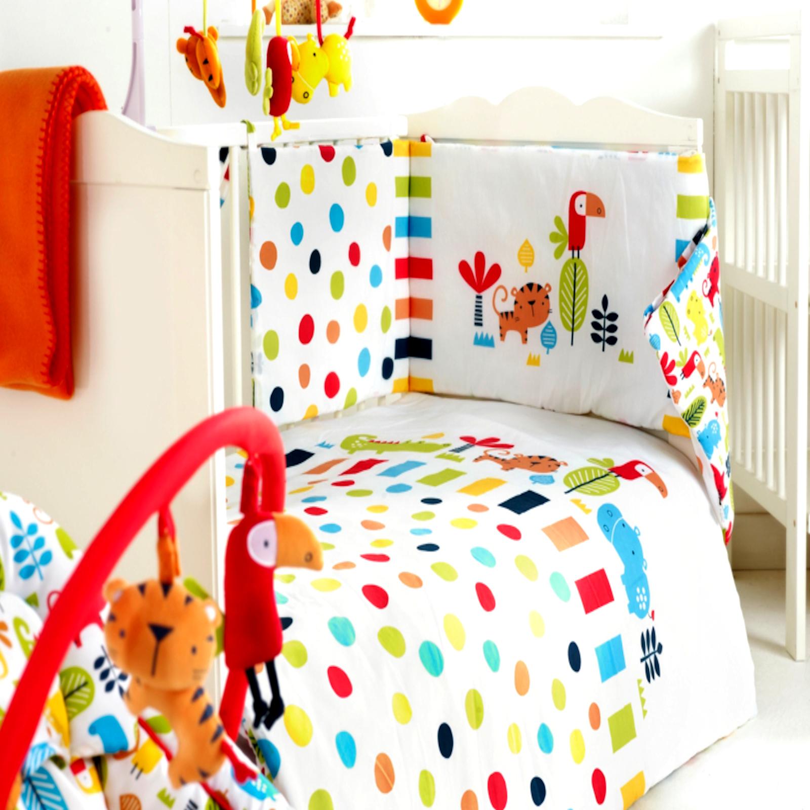 Red Kite 4 Piece Safari Cosi Cot Cotbed Bedding Set