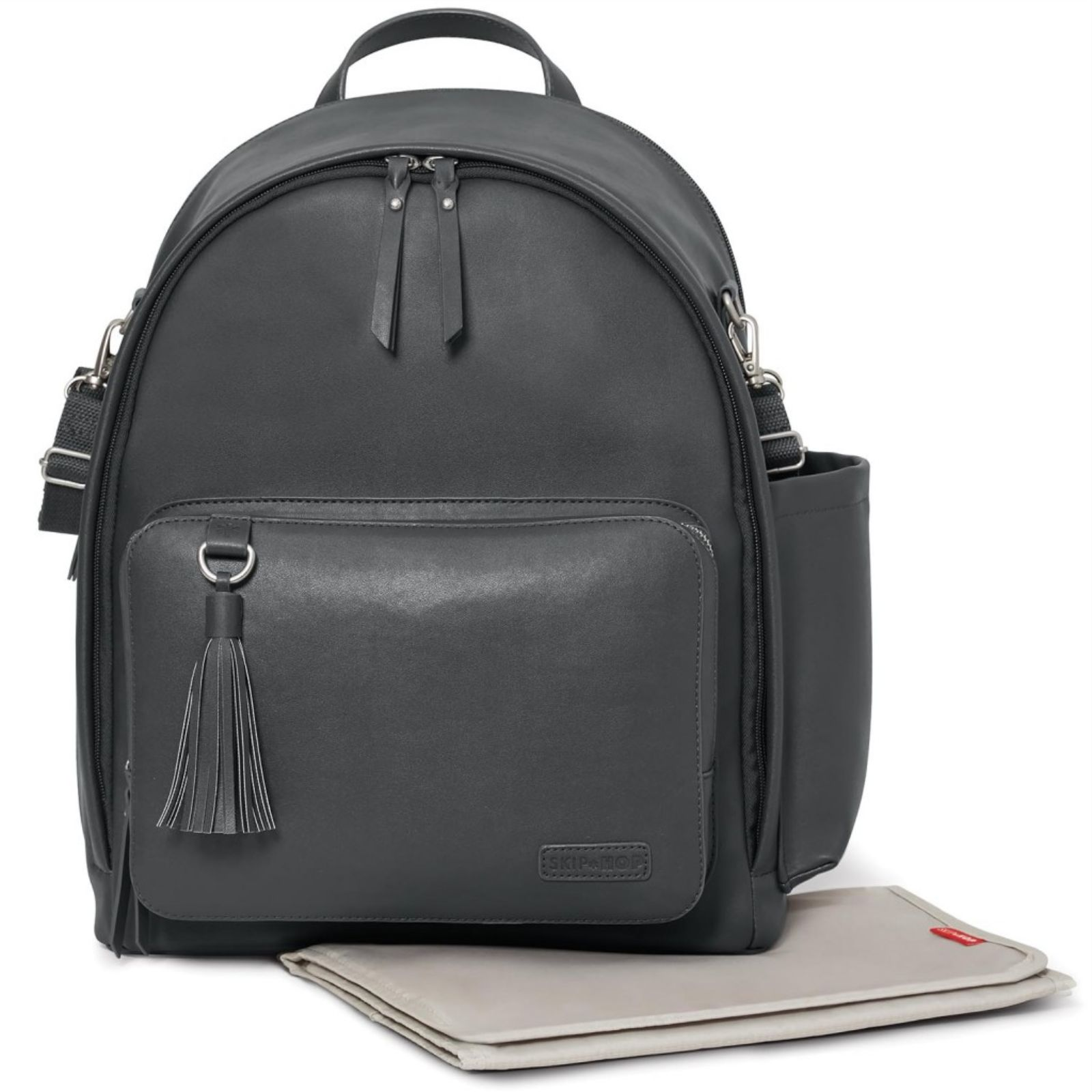 skip hop greenwich simply chic backpack changing bag smoke buy at online4baby. Black Bedroom Furniture Sets. Home Design Ideas