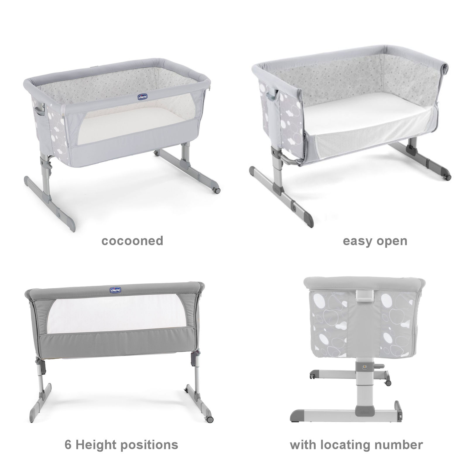 chicco 4 piece next 2 me crib bundle circles buy at. Black Bedroom Furniture Sets. Home Design Ideas