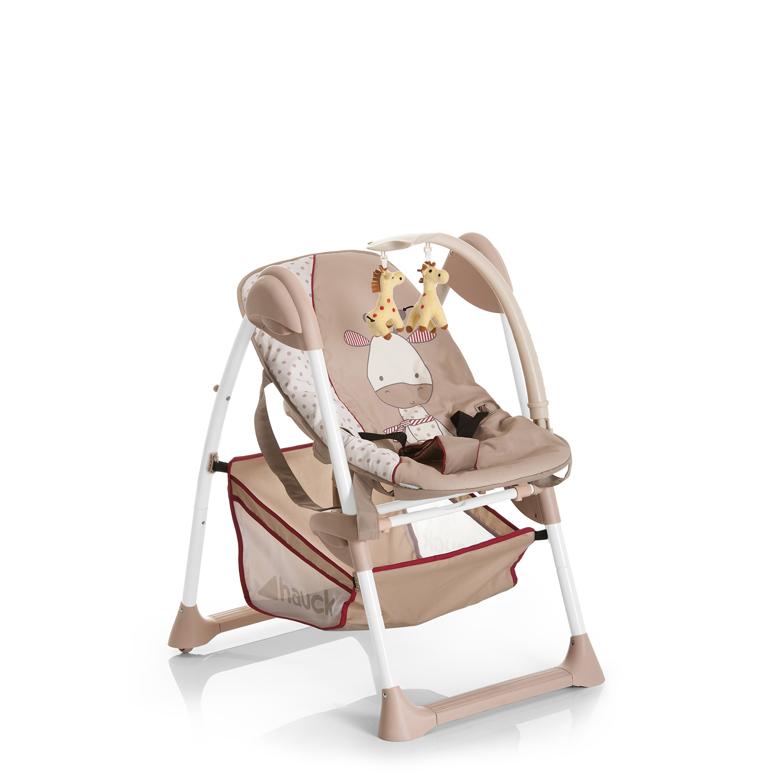 hauck sit n relax 2 in 1 highchair bouncer giraffe buy at online4baby. Black Bedroom Furniture Sets. Home Design Ideas