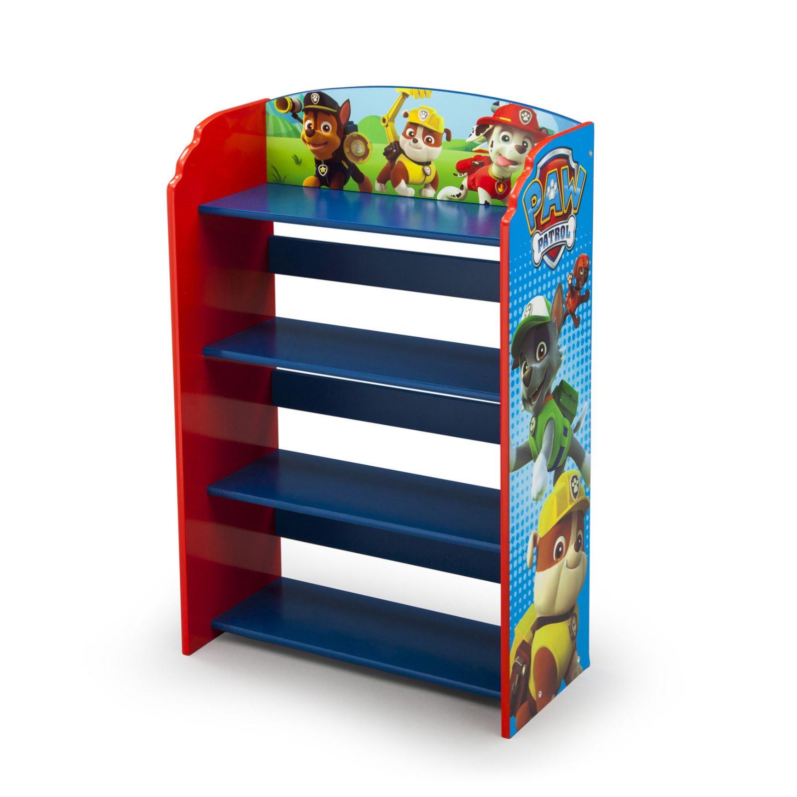 New Delta Chldren Paw Patrol Wooden Bookcase Nursery Playroom Book Shelves