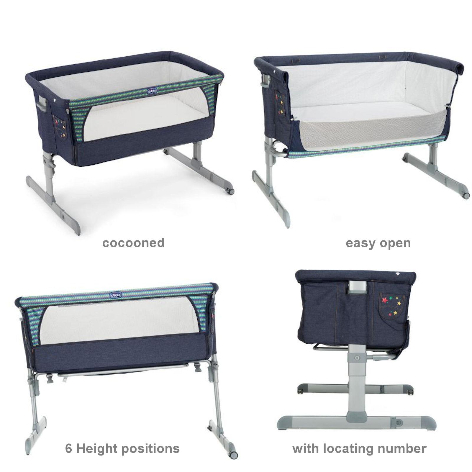 chicco luxury next 2 me crib special edition denim buy. Black Bedroom Furniture Sets. Home Design Ideas