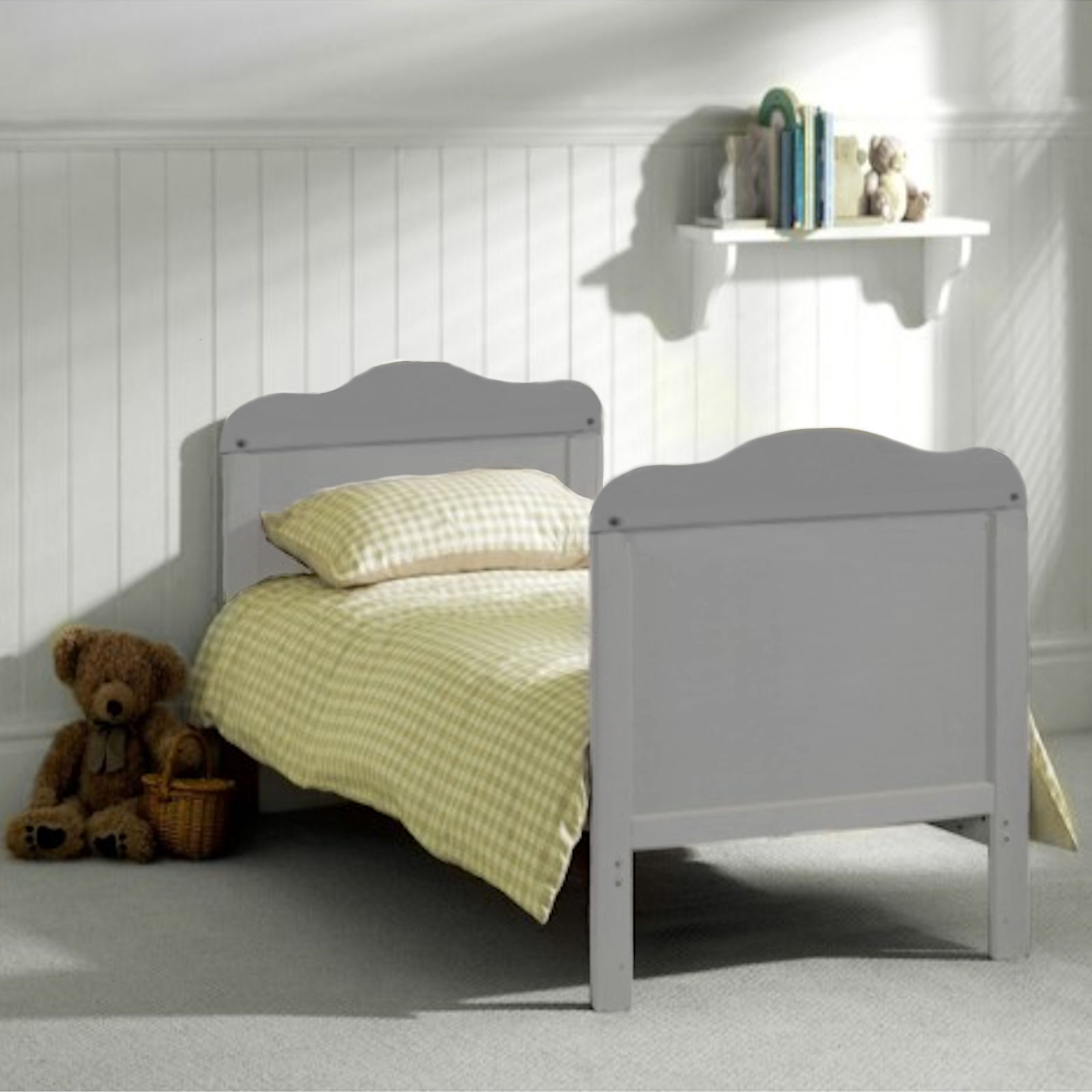 nouveau produit 10b43 2f9b7 4Baby Classic Deluxe Cot Bed With Drawer & Deluxe Maxi Air Cool Mattress -  Grey