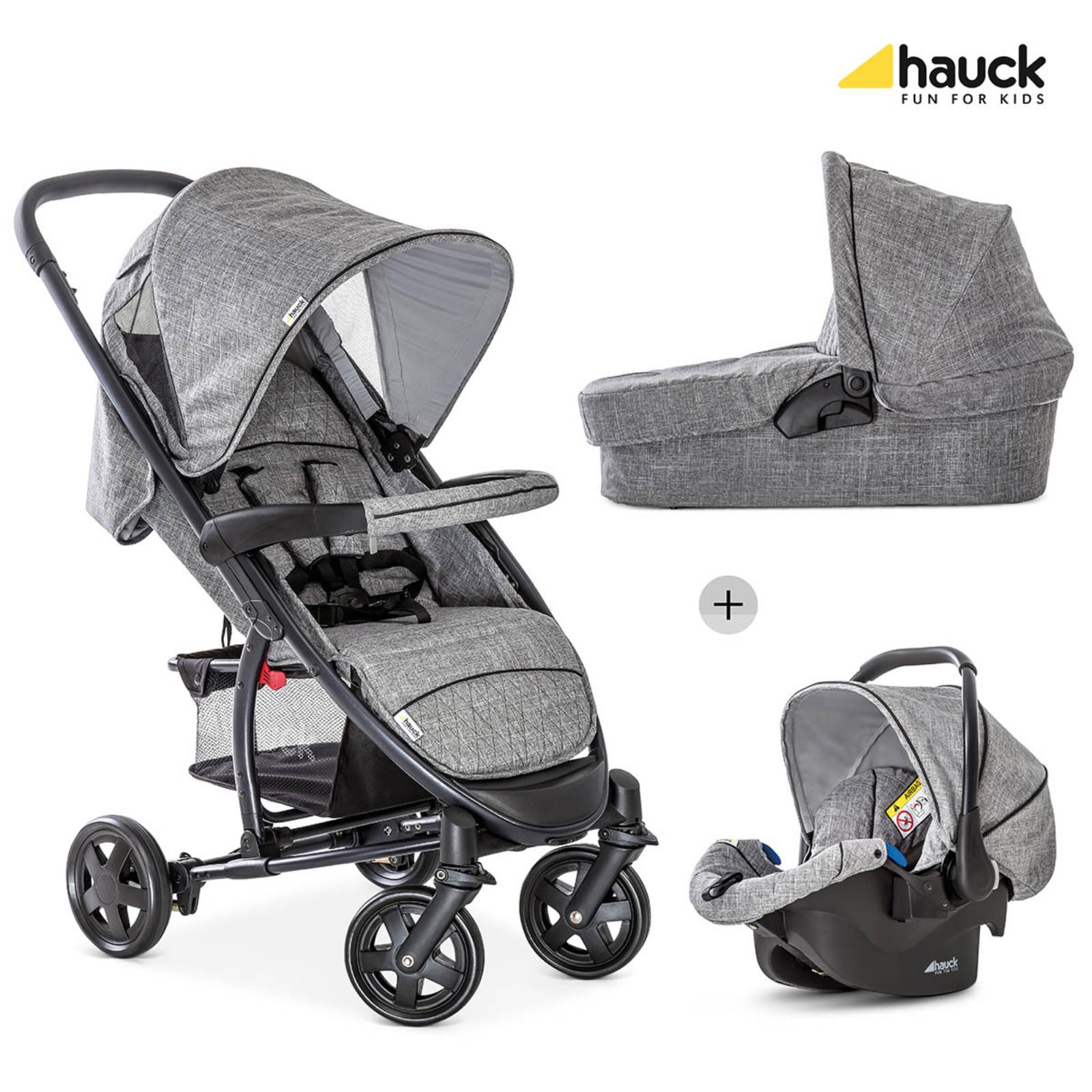 hauck malibu 4 trio set travel system melange grey buy at online4baby. Black Bedroom Furniture Sets. Home Design Ideas