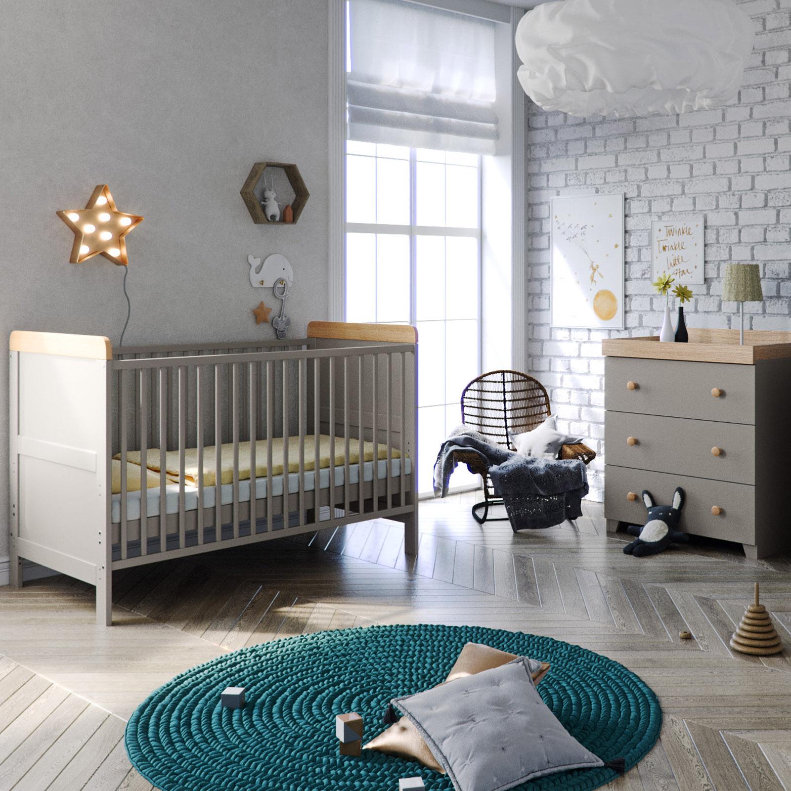 Little Acorns Classic Milano Cot Bed 4 Piece Nursery ...
