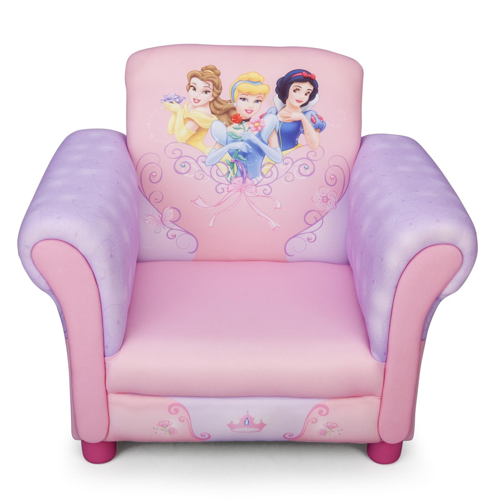 Disney Princess Armchair: NEW DELTA CHILDREN DISNEY PRINCESS UPHOLSTERED PINK CHAIR