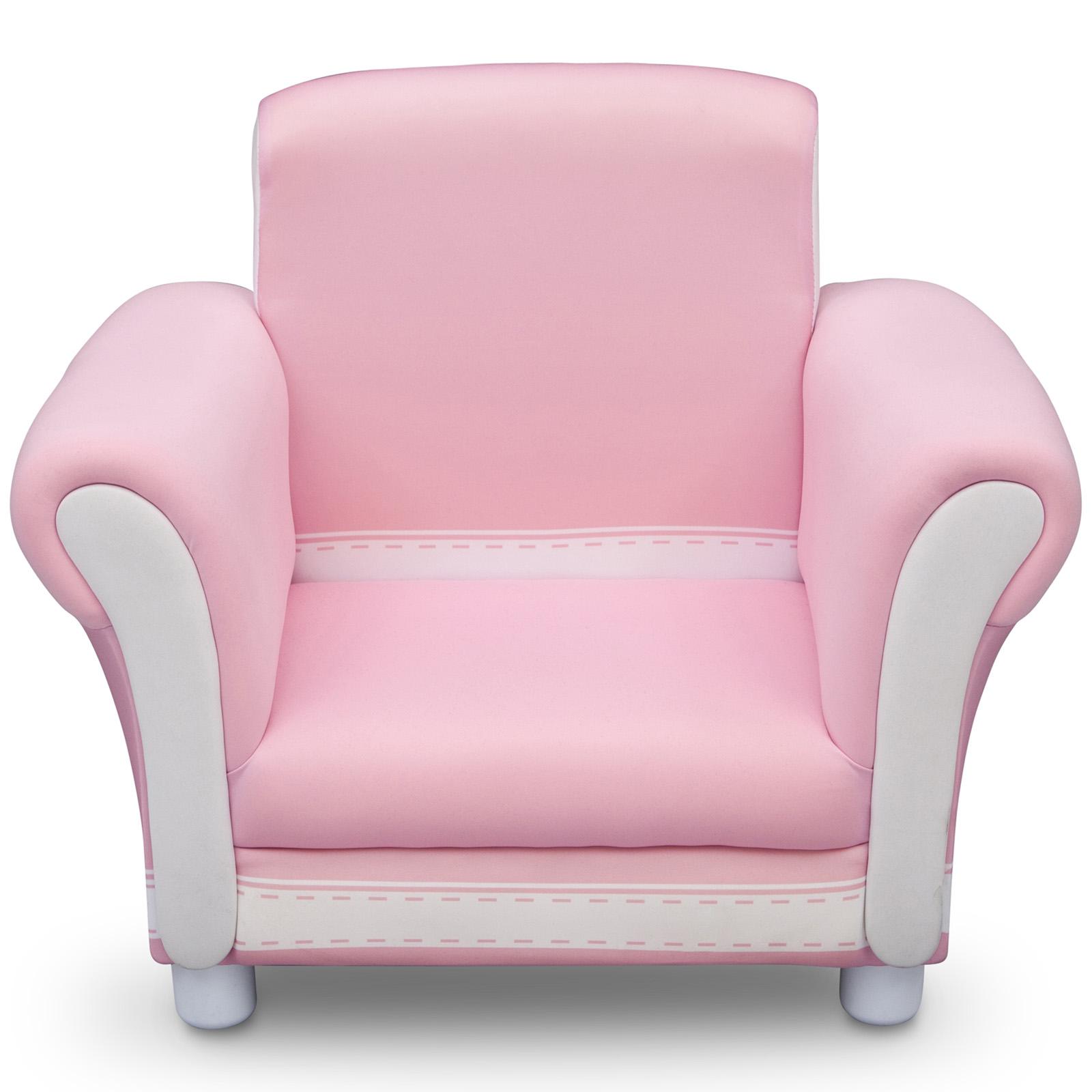 New delta children pink girls upholstered chair kids for Kids upholstered chair