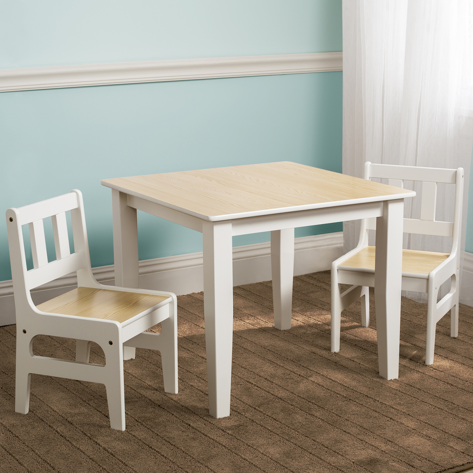 Delta Children Table & Chairs Set Natural