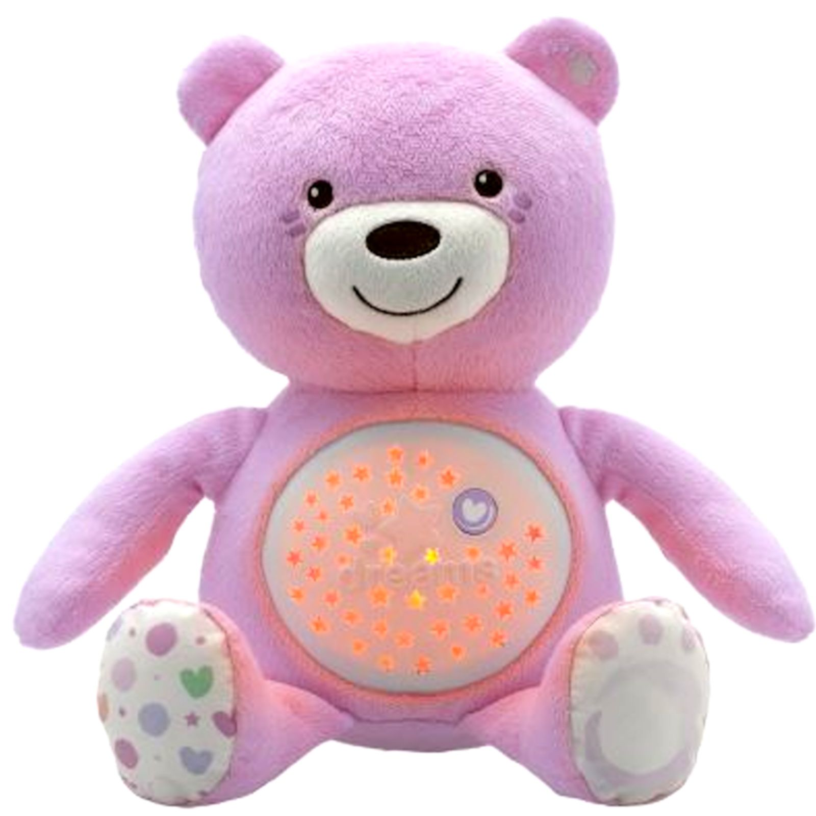 New Chicco Pink Baby Bear Nursery Projector Baby Musical