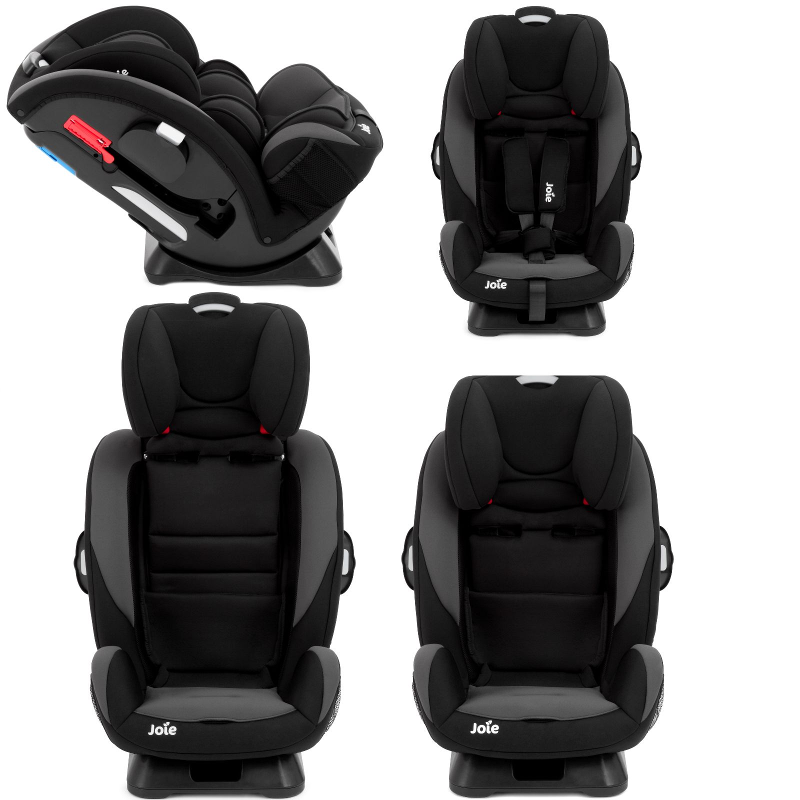 joie every stage two tone black group 0 1 2 3 car seat. Black Bedroom Furniture Sets. Home Design Ideas