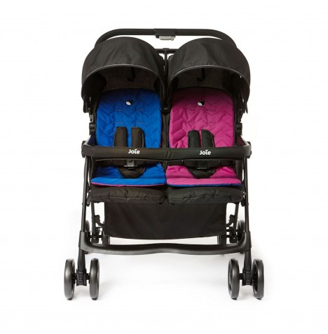 joie aire twin stroller pink blue buy at online4baby. Black Bedroom Furniture Sets. Home Design Ideas
