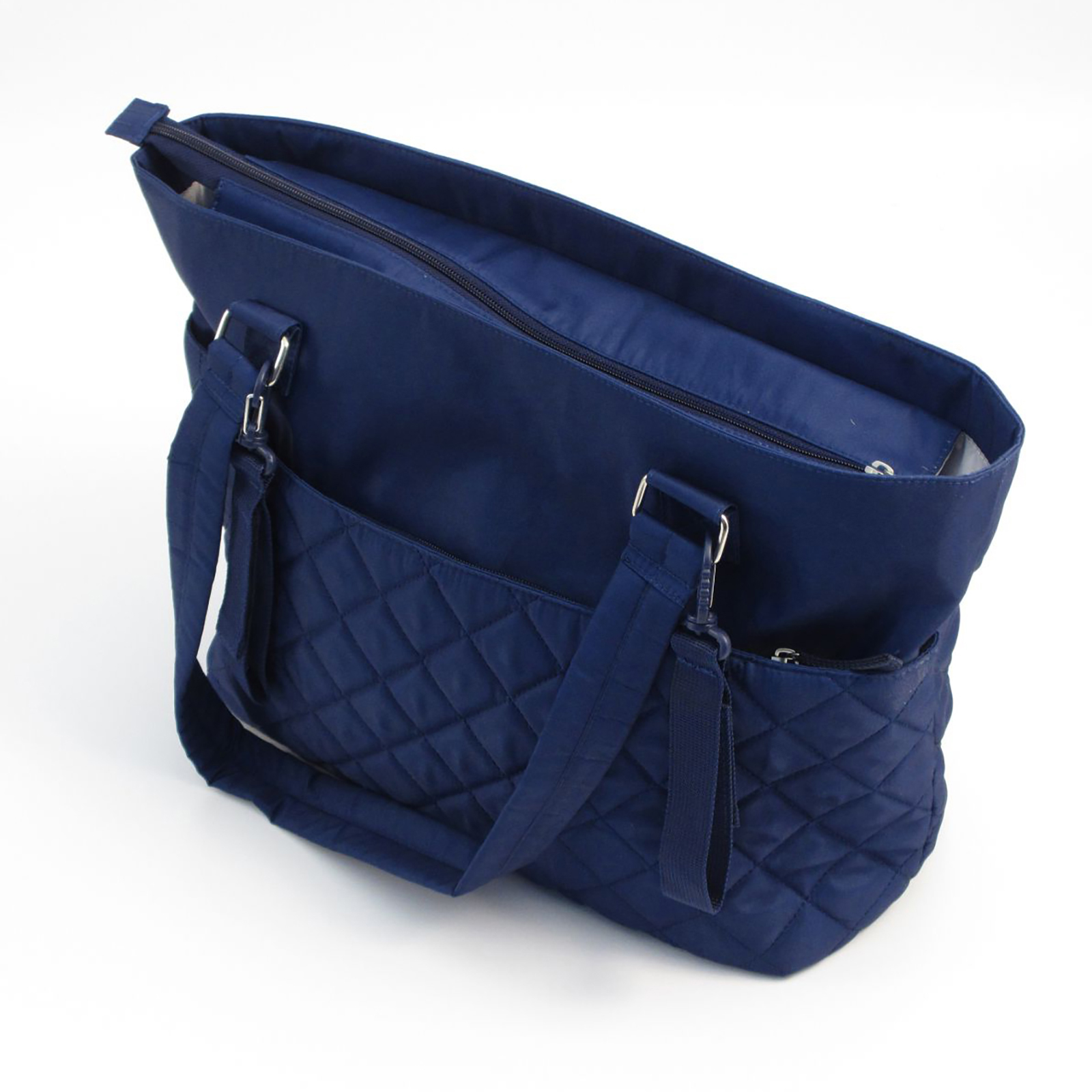 bags leather bag bk quilt with dasein products xl handles quilted chained tote faux