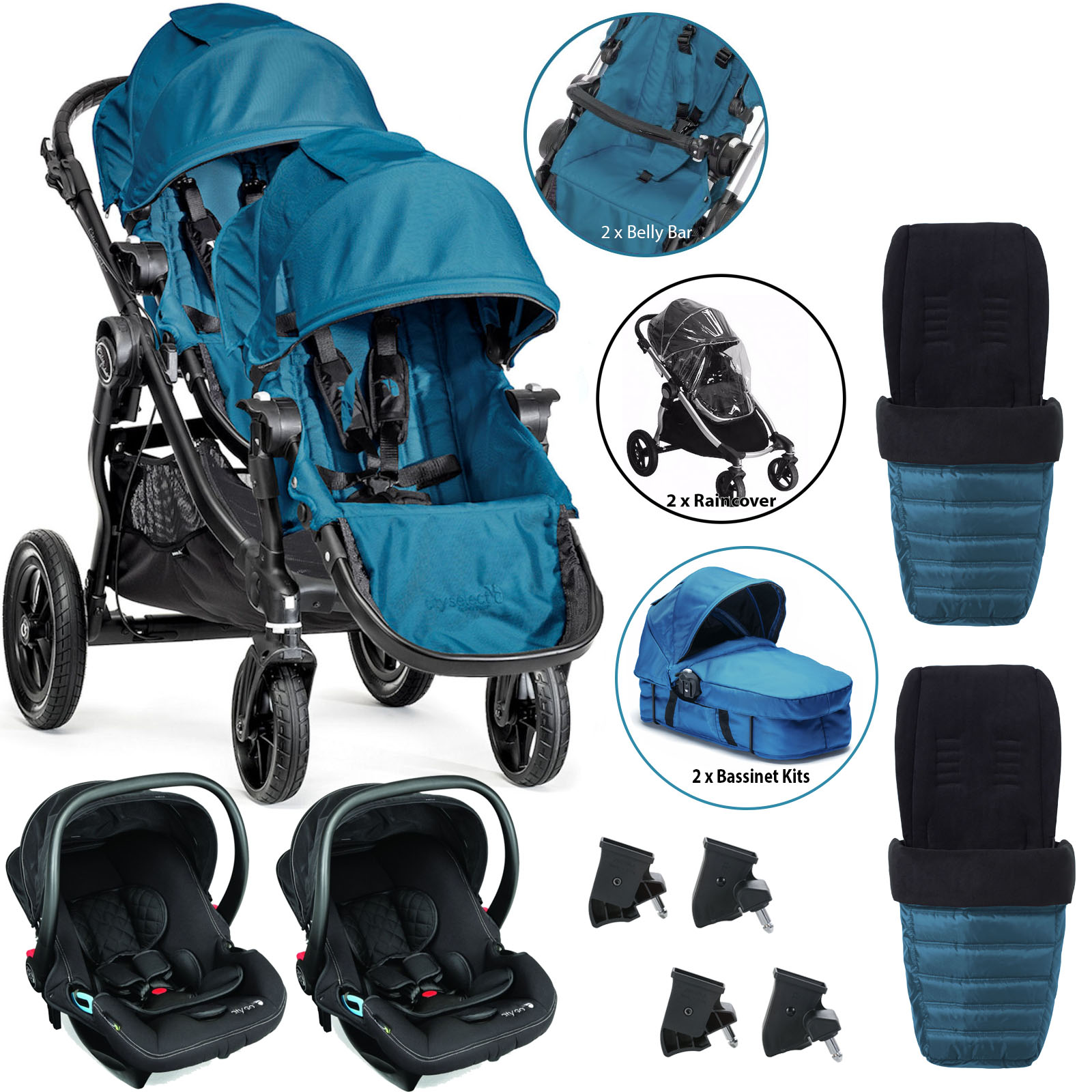 baby jogger city select tandem travel system full twin. Black Bedroom Furniture Sets. Home Design Ideas