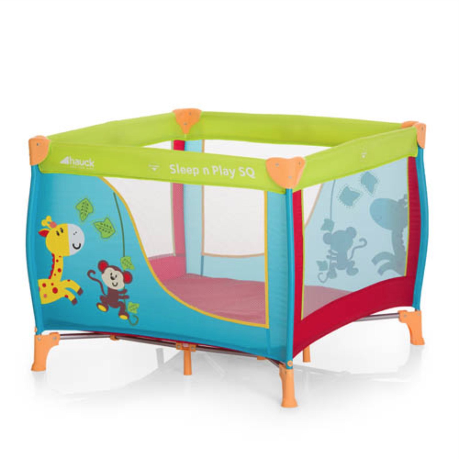 Hauck Dream n Play Square Travel Cot Playpen Jungle Fun