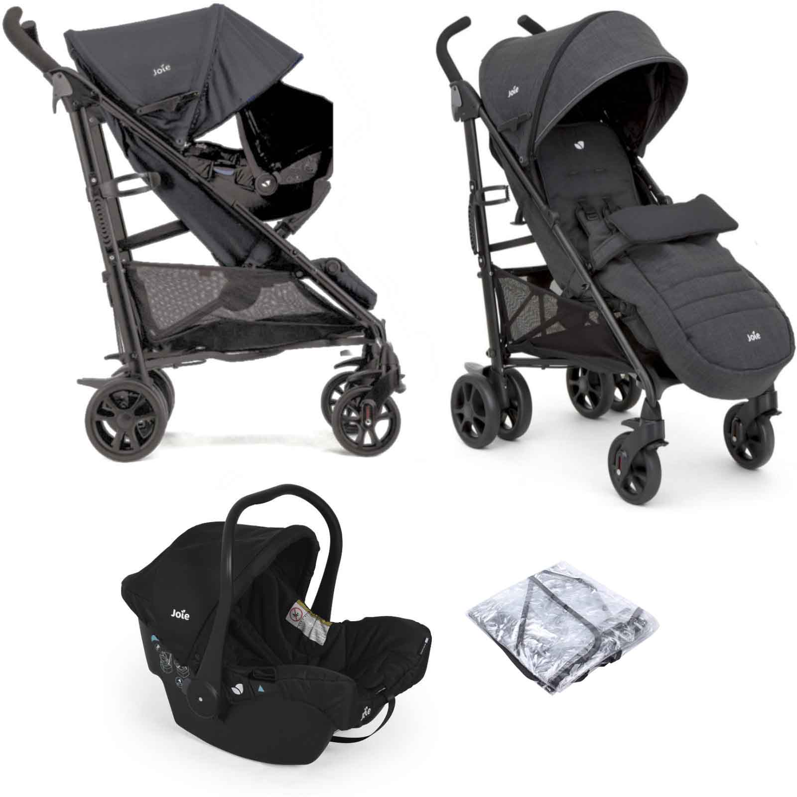 Joie Brisk LX Travel System with Juva Car Seat & Footmuff ...
