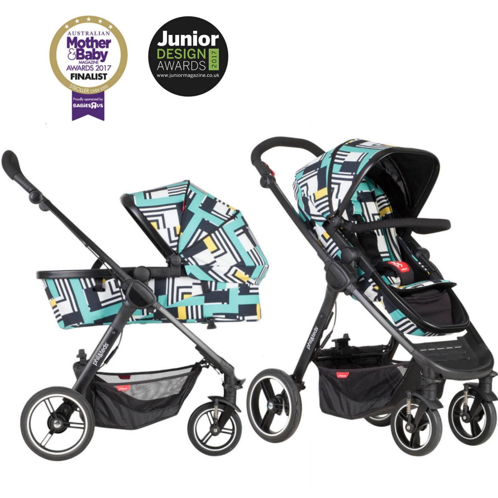 Phil Teds Mod Pushchair Buggy Abstract Buy At Online4baby