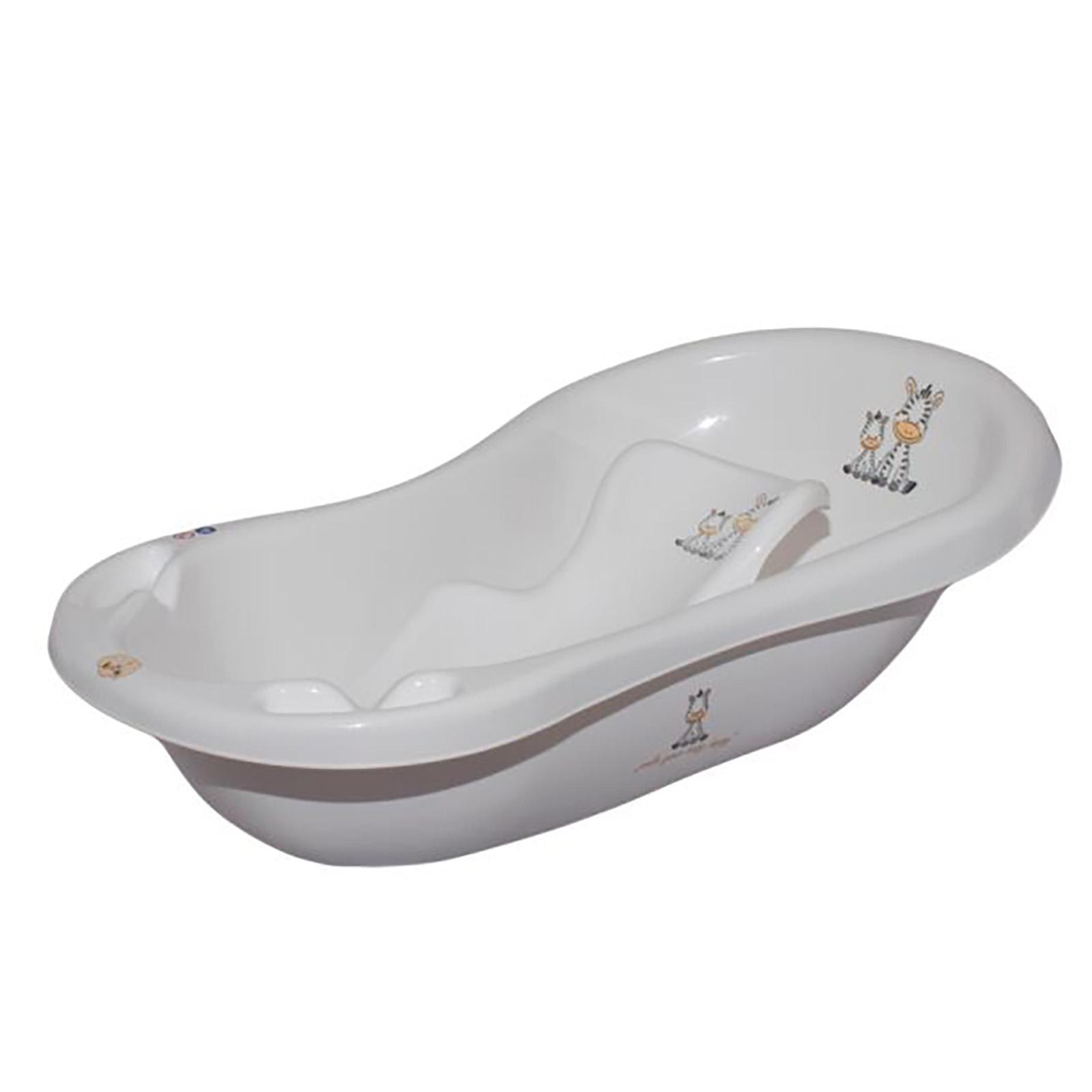 Maltex Baby Bath With Bath Seat - Zebra White | Buy at Online4baby