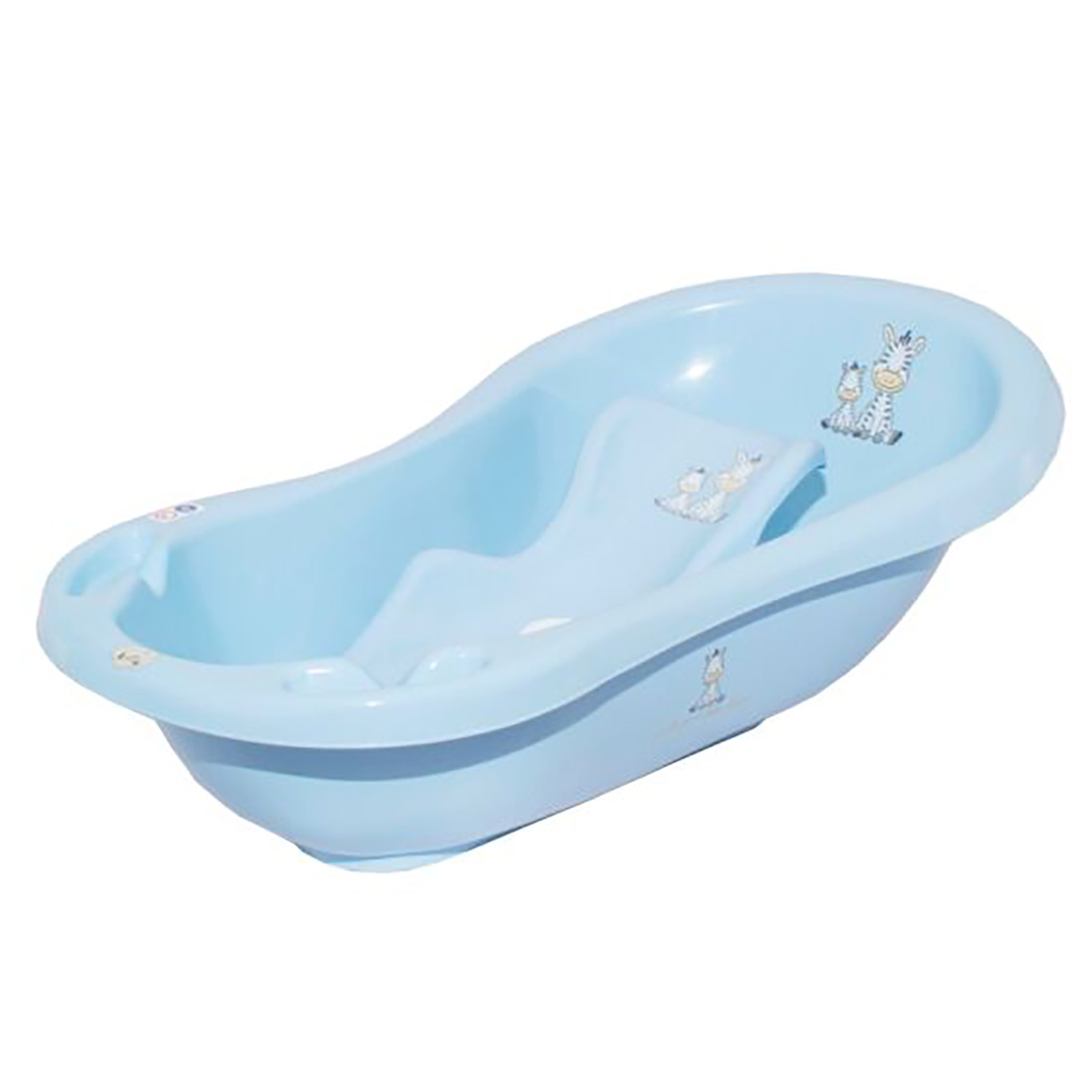 Maltex Baby Bath With Bath Seat - Zebra Blue | Buy at Online4baby