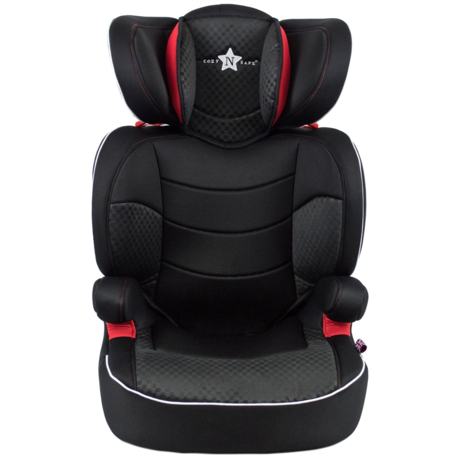 cozy n safe augusta group 2 3 car seat black red buy at online4baby. Black Bedroom Furniture Sets. Home Design Ideas