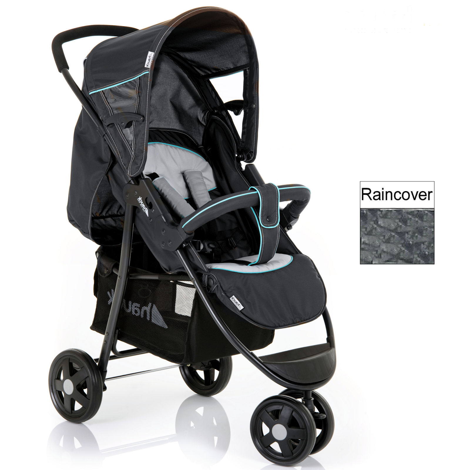 Hauck Citi Stroller 3 Wheel Pushchair Caviar Silver