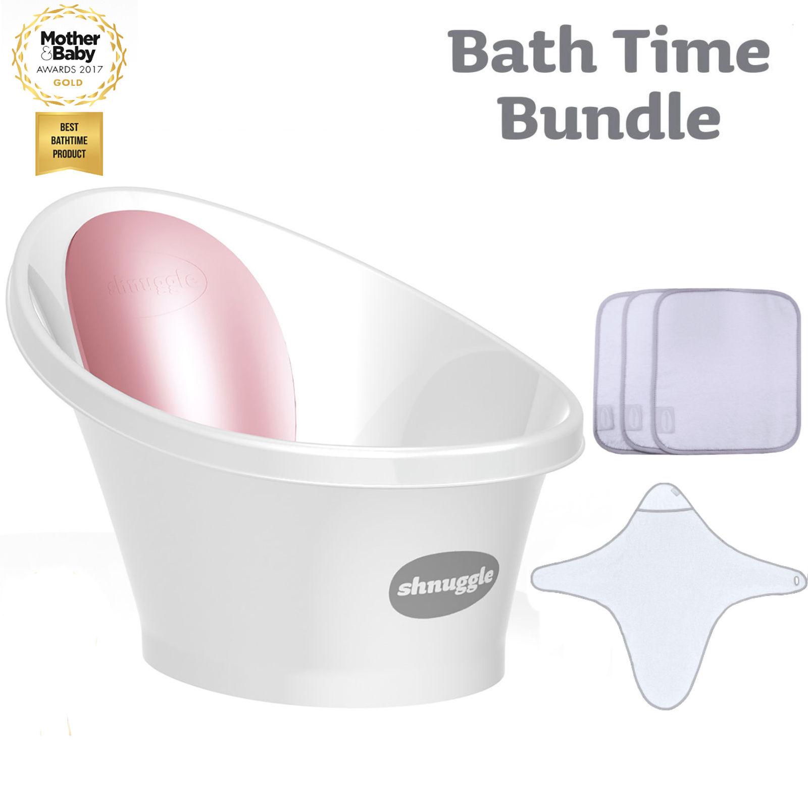Shnuggle Baby Bath Time Bundle - Pink | Buy at Online4baby