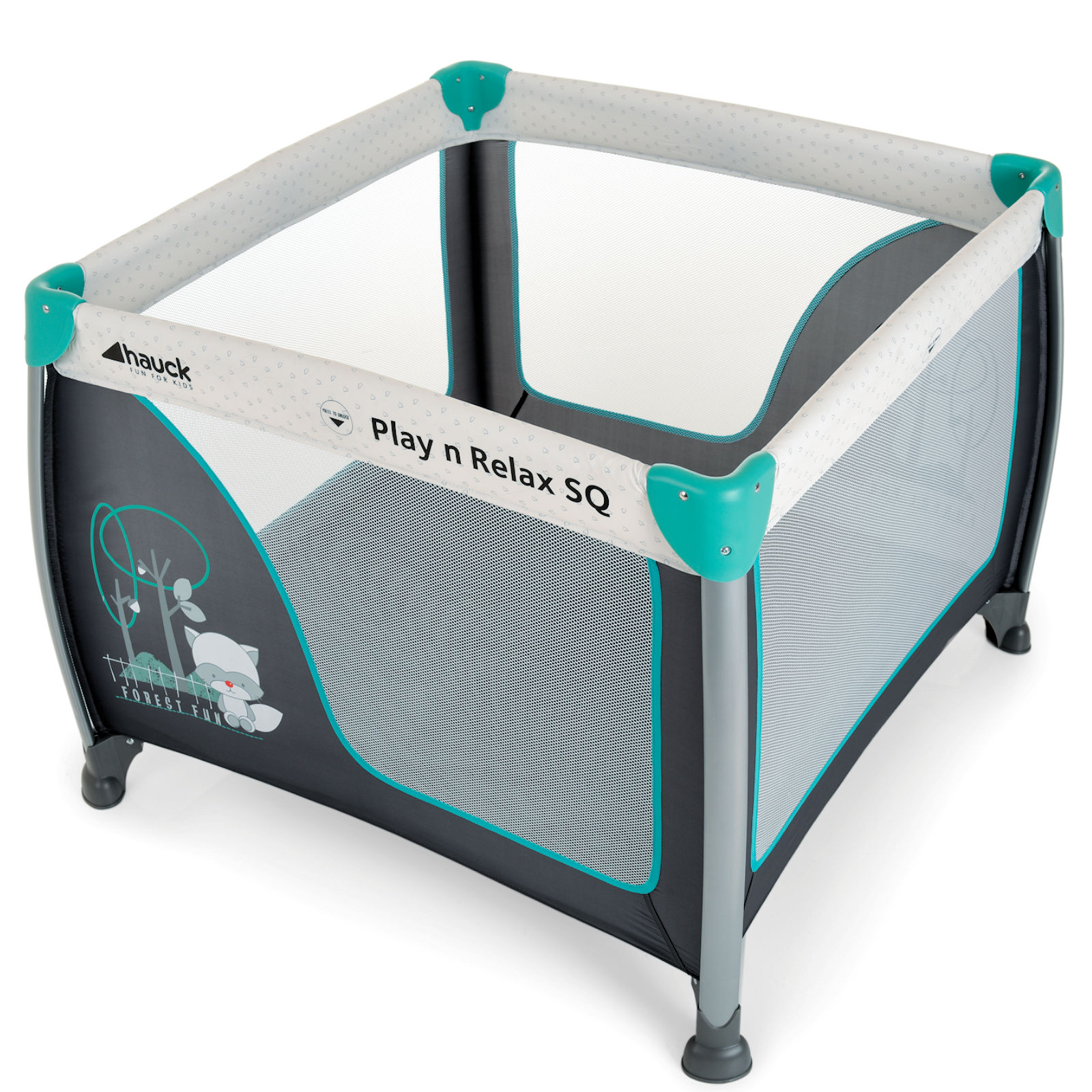 Hauck Play N Relax Large Square Travel Cot Playpen