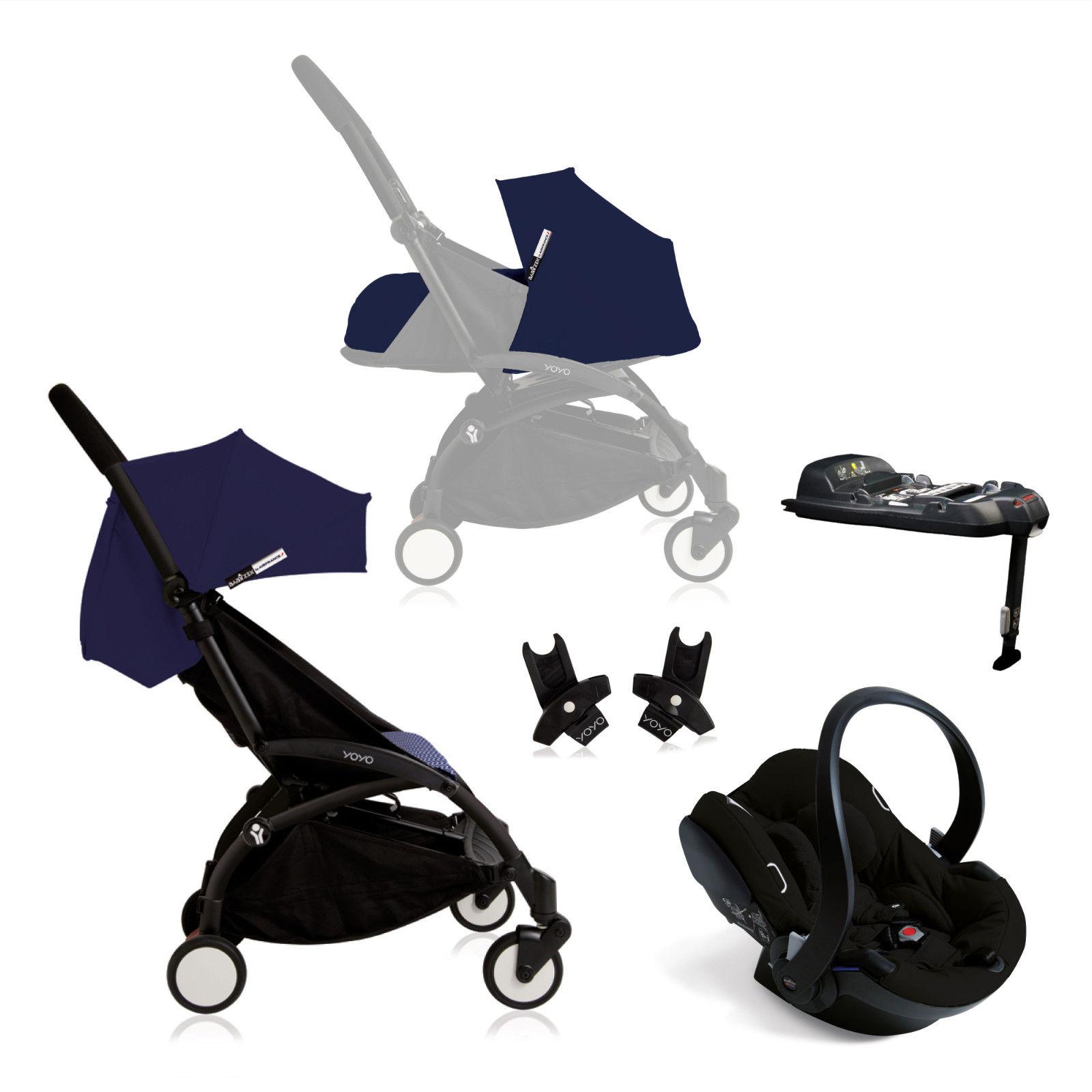 Babyzen Yoyo+ (Black Chassis) Newborn Travel System - Air France ...
