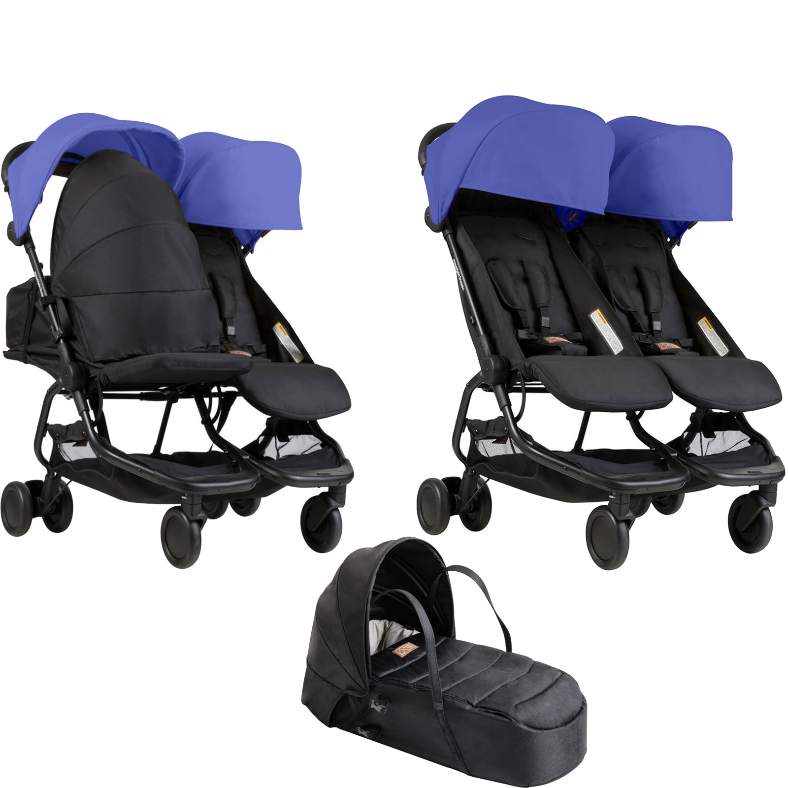 Mountain Buggy Nano Duo Twin Pushchair Amp Cocoon Carrycot
