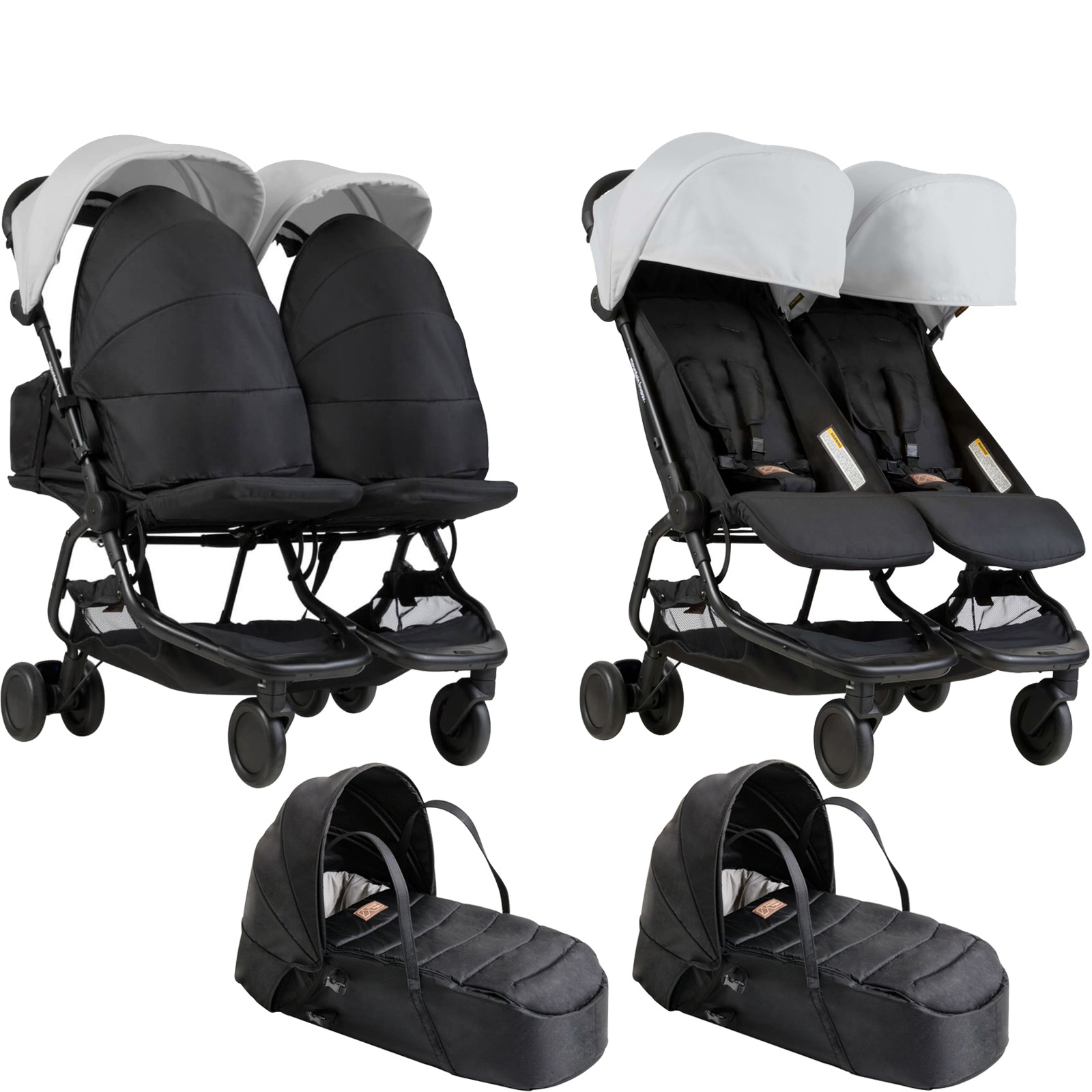 mountain buggy nano duo twin pushchair x2 cocoon. Black Bedroom Furniture Sets. Home Design Ideas