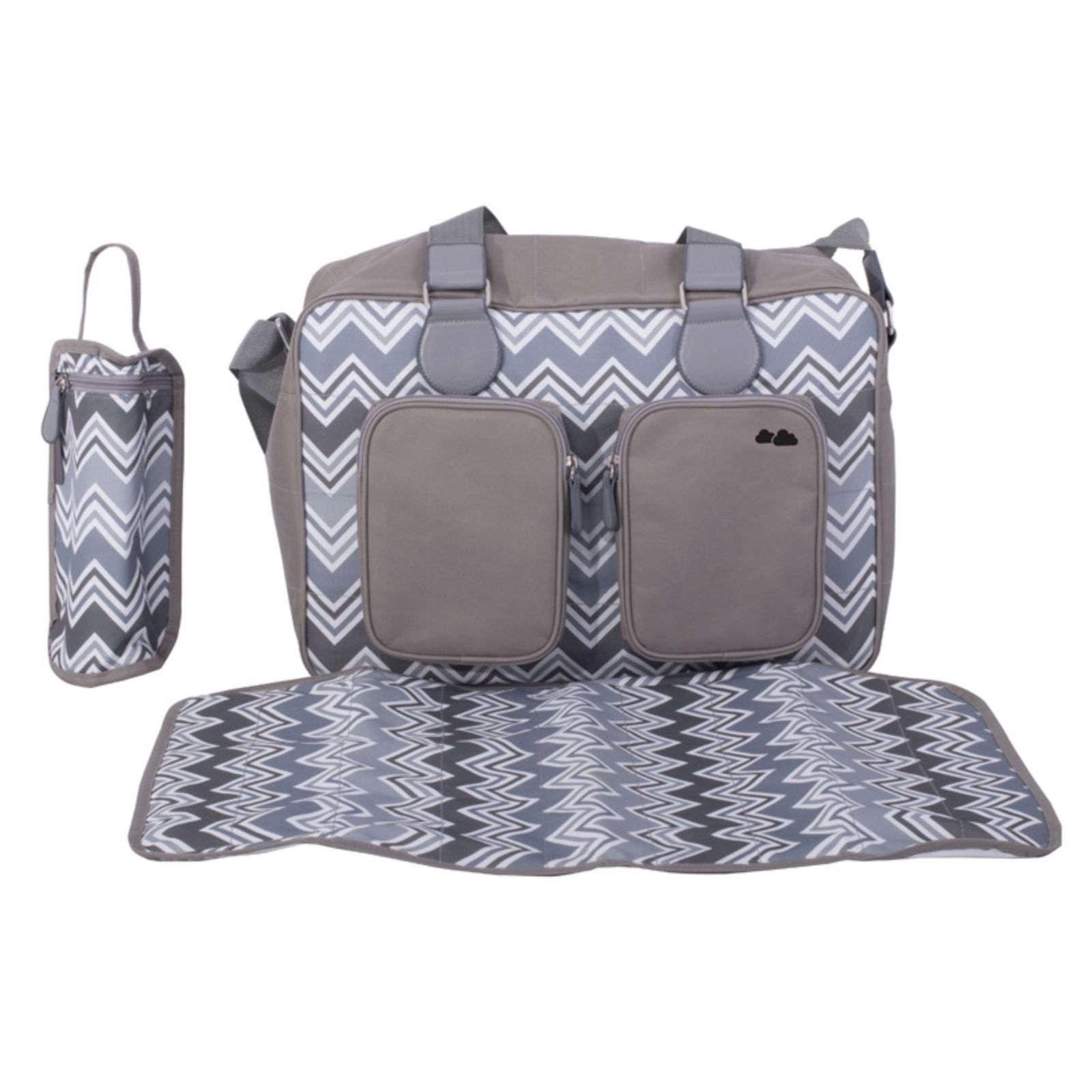 ea0c72350b0d6 My Babiie Deluxe Changing Bag *Samantha Faiers Collection* - Charcoal  Chevron | Buy at Online4baby