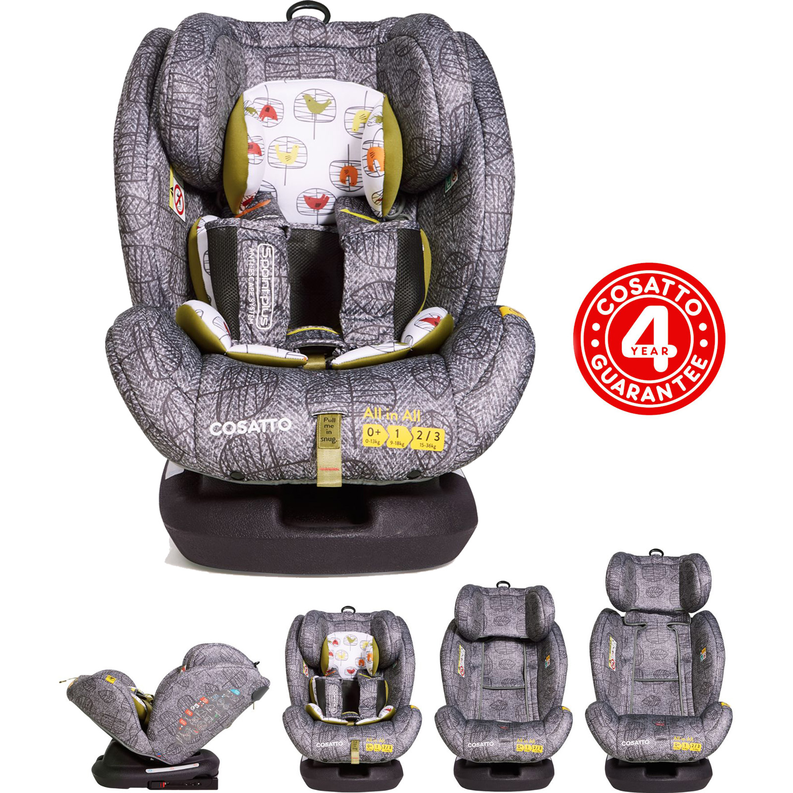 Cosatto All In All Group 0+,1,2,3 Isofix Car Seat - Dawn Chorus ...