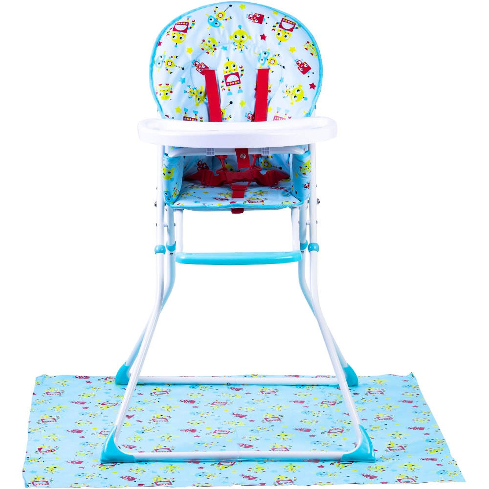Super Red Kite Feed Me Compact Highchair Splash Mat Robot Dailytribune Chair Design For Home Dailytribuneorg