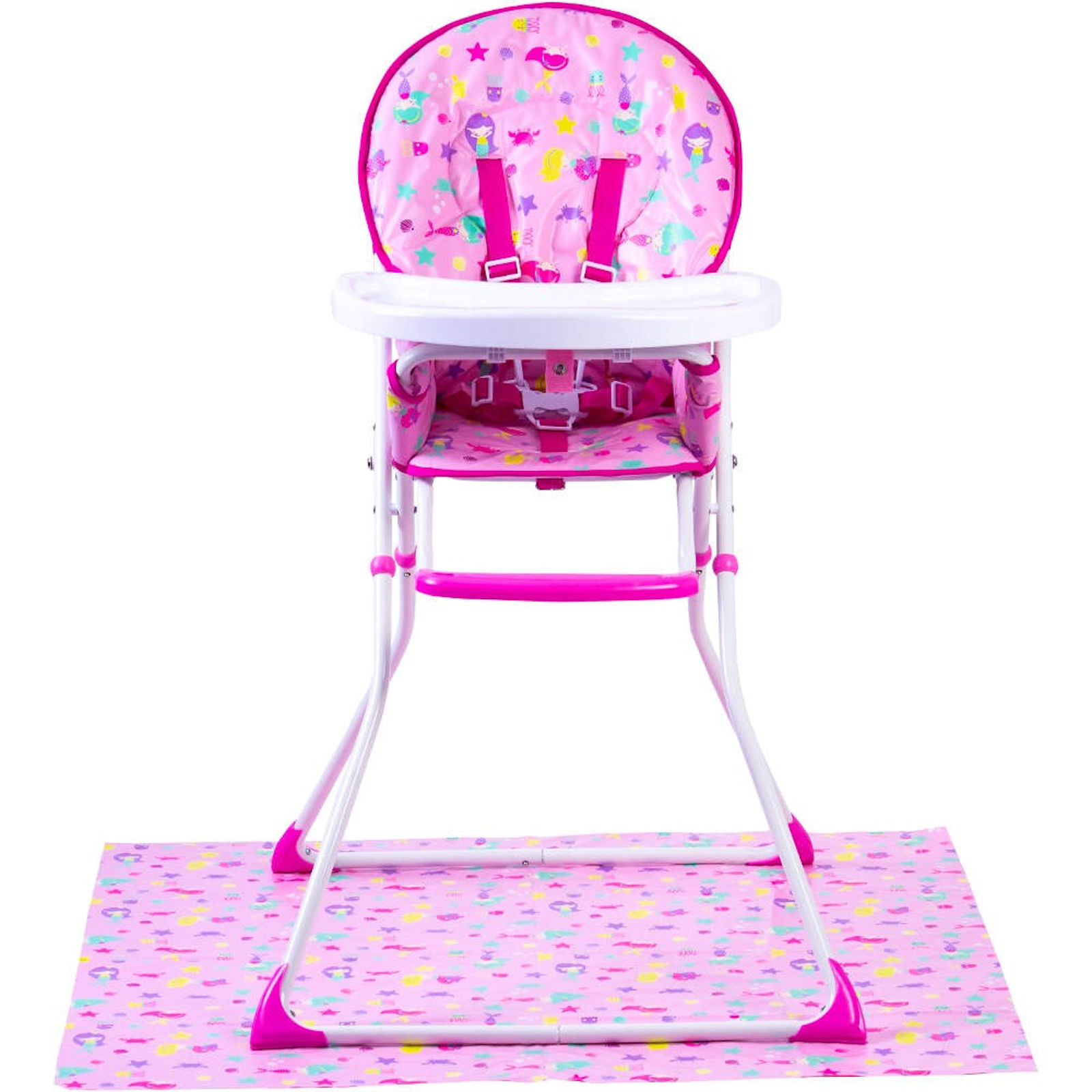 Pleasing Red Kite Feed Me Compact Highchair Splash Mat Mermaid Dailytribune Chair Design For Home Dailytribuneorg