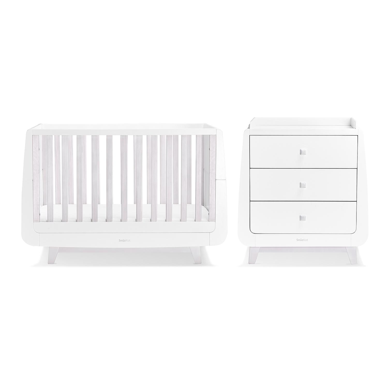 Snuz Snuzkot Luxe 3 Piece Nursery Furniture Set Whitewash
